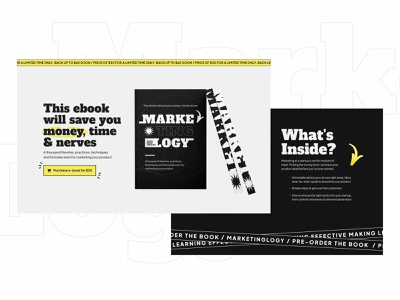 Marketing book - Landing layout book interface website illustration landing design ui experimental