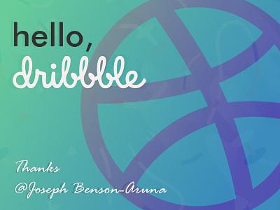 Hello Dribbble. first shot illustration debut