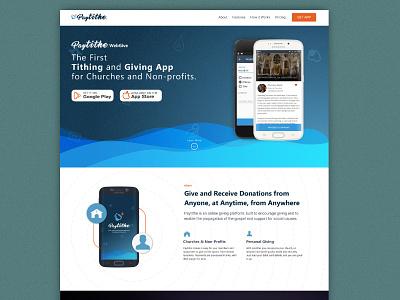 Paytithe app webpage uiux website landing page
