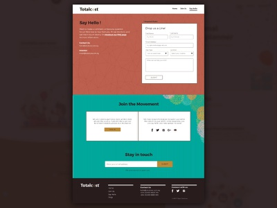 Contact Us page contact page uiux