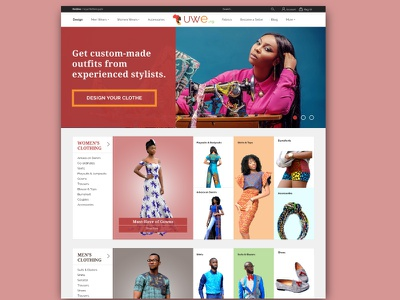 UWE - Landing Page web clean corporate modern e-commerse