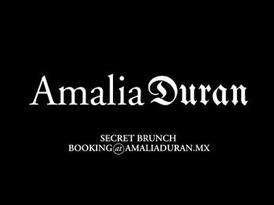 "Amalia Duran ""Proposal"""