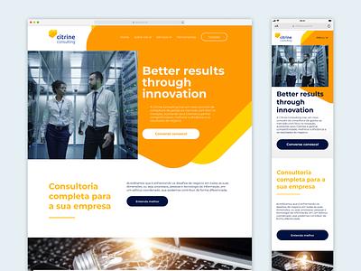 Website homepage responsive product mobile colorful color design webdesign web ux ui