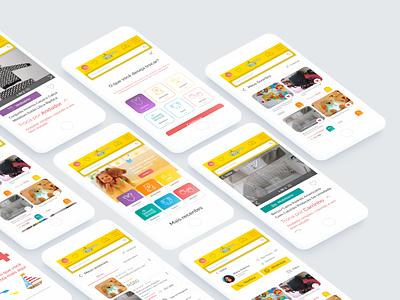 Mobile version of exchange website ecommerce mobile webdesign web design ux ui