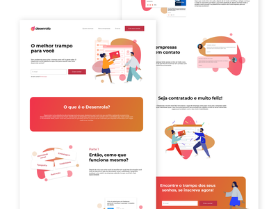 Landing Page - Desenrola landing page landing illustration brand gradient webdesign web design ux ui