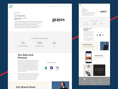 Portfolio Page branding design