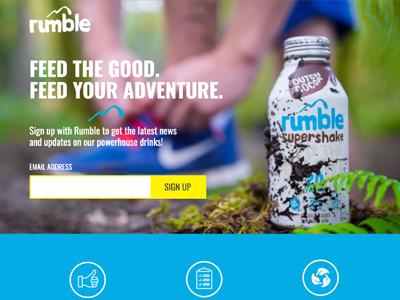 Rumble Drink Landing Page landing pages landing page website web unbounce design