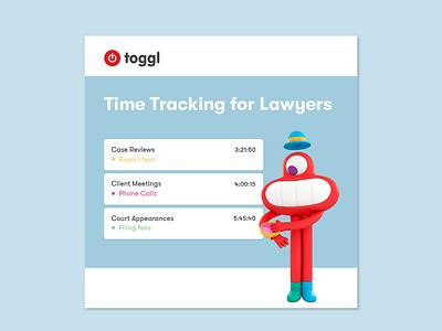 Toggl Facebook Ad instagram ad facebook ad illustration branding design