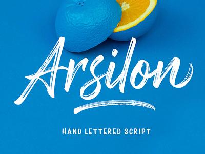 Arsilon Font font awesome font hand lettering web modern font brush script art brush handwritten handmade lettering graphic fonts brushfont logo calligraphy typography handpainted brush lettering brushes