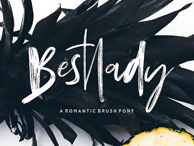 Bestlady Brush Font handpainted displayfont lettering brushfont typeface font