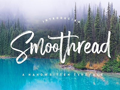 Smoothread Font typography handmade typeface handpainted graphic fonts font art calligraphy lettering brushfont