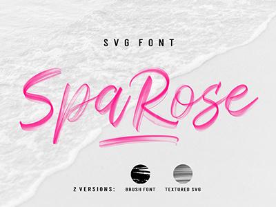 Sparose SVG Font design art logo displayfont handwriting textured handlettered brush graphic fonts svg font svg calligraphy typography handpainted handmade brushfont typeface lettering font