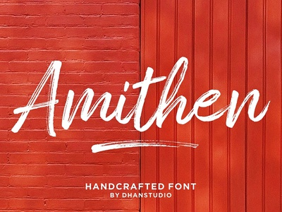 Amithen Brush graphic vector branding design illustration logo art handwriting handlettered fonts calligraphy typography handpainted handmade brushfont typeface lettering font tulisan fonta