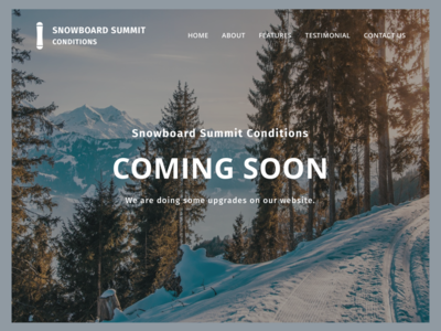 Snowboard Summit Conditions - Generic Web Page - Coming Soon