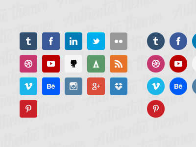 Authentic Themes Flat Social Icons