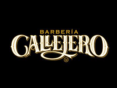 Callejero barber shop barberia urban logo