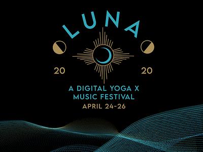 LUNA illustrator logo designer music festival branding mystical graphic designer design logo