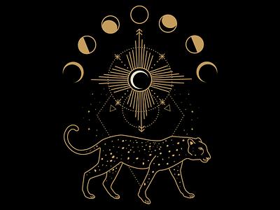 Celestial Cheetah illustration mystic atx adobe illustrator mystical graphic design design