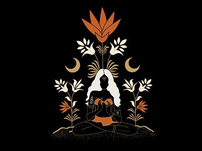 Spiritual Lady illustration mystical vector art atx illustrator mysticism alchemy branding design graphic design