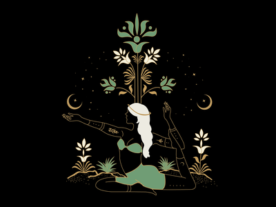 Spiritual Lady II illustration vector art atx illustrator designer mysticism branding logo design graphic design