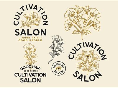 Cultivation Salon vector art vector illustration badgedesign designer branding logo illustrator design graphic design