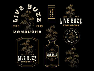Live Buzz typography designer atx vector art badgedesign design graphic design illustrator branding logo