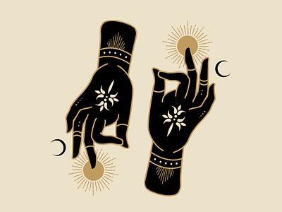 Above & Below mystical alchemy illustration mysticism atx illustrator branding logo graphic design design