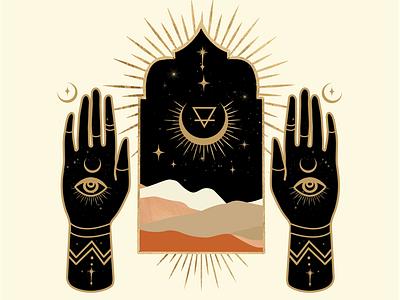 Magic Portal designer celestial logo hand mystical illustrator atx graphicdesign design
