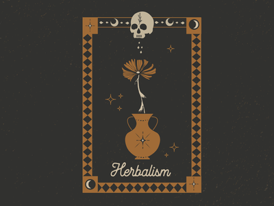Herbalism vector art vector illustrator alchemy herbalism occult atx design graphic design