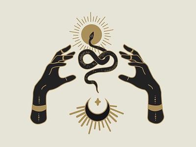 Fortune Snake Hands designer atx serpent graphic design design