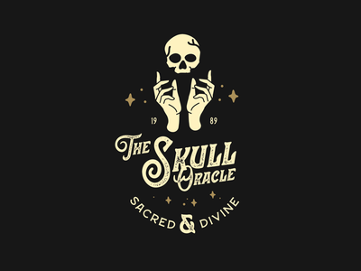 Skull Oracle badge design atx mysticism design logo graphic design