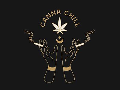 Canna Chill designer atx graphicdesign logo logo design branding design
