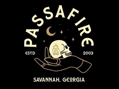 Passafire skull design atx merch design band merch band graphic design design