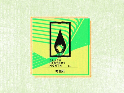 Happy BHM from Riot Noir! noir blackhistorymonth marketing campaign design advertising vector logo brand branding typography design