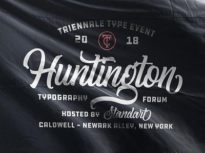 Vintage Flag Design casual handlettering handmade font mockup flag interaction header logo badge type lettering