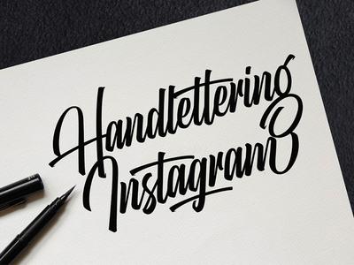 Instagram Handlettering
