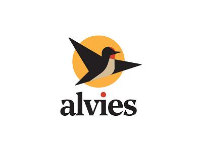 Alvies Logo Design flatdesign geometry alvies brandidentity bird logo icon illustration vector freedom flying boots