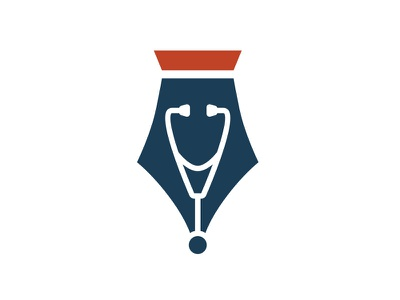 Brockman Foundation Logo logo design stethoscope pen