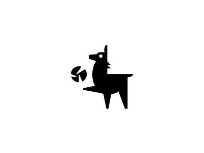 Tiny Llamas Volleyball Team Logo geometric logos geometry logos team logo volleyball llama