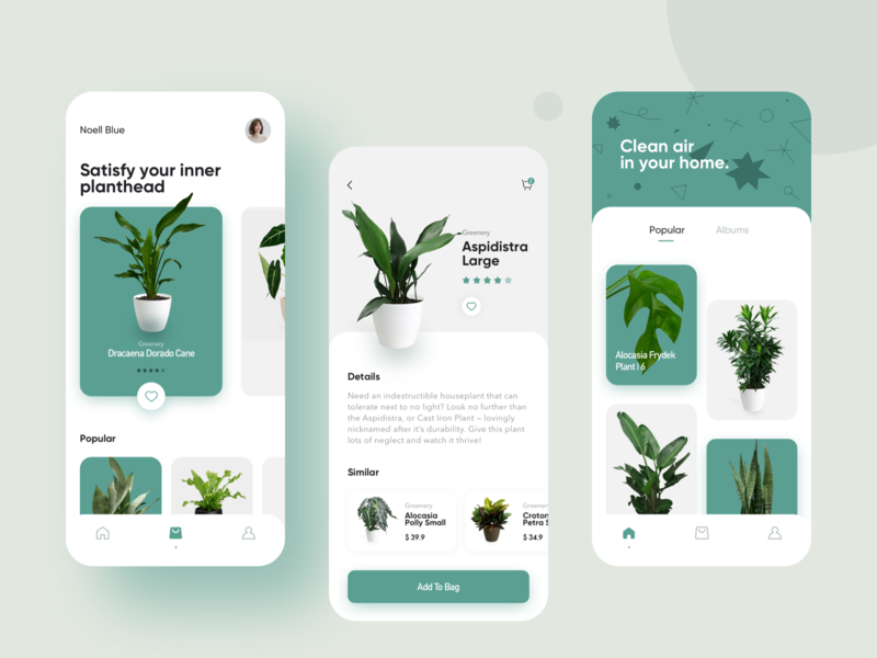 Greenery application ui greenery green flat icon interface design app ui buy card plant