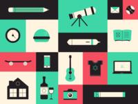 illustration style icons