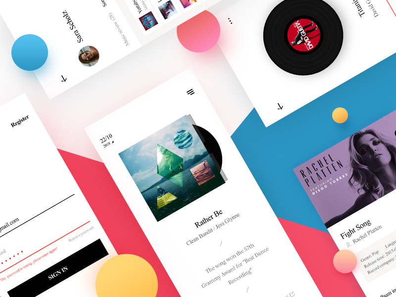 Daily Record interface app ux ui