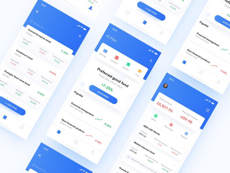 Fund Investment App data icon app interface ux ui fund