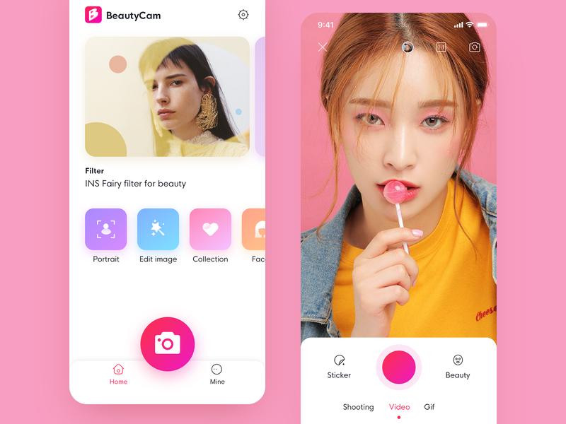 Beauty Camera App filter beauty camera icon interface ux ui app