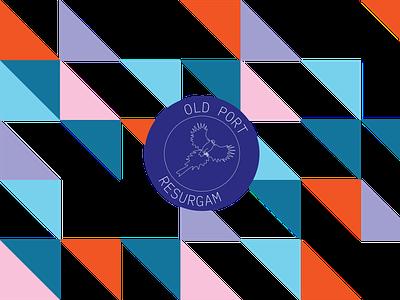Portland City Rebrand pattern typography design logo conceptual adobe illustrator branding brand identity portland