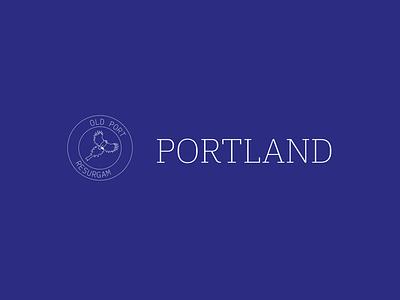 Portland City Rebrand typography vector design logo conceptual adobe illustrator branding brand identity portland