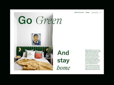 Green Residential Website Landing Page minimal web uxui landing page website residential design branding conceptual adobe illustrator typography ui