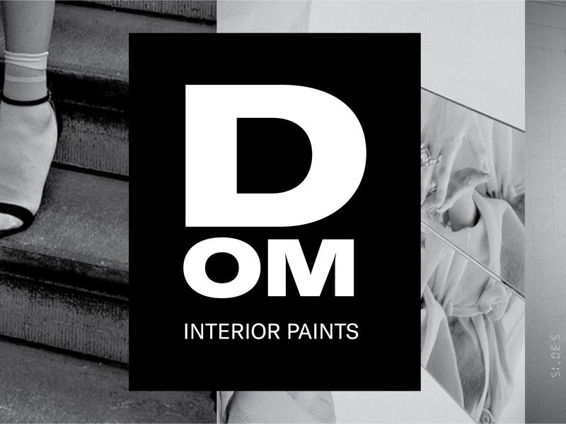 DOM Interior Paints Logo editorial typography design custom type conceptual branding logotype logo brand identity
