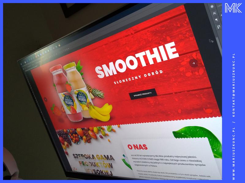 Producent soków / webdesign photoshop typography uidesign mariuszkunc design layout branding ui web webdesign