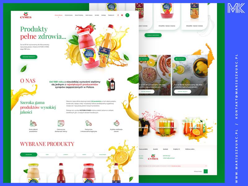 Webdesign / producent soków icon typography uidesign layout ui branding mariuszkunc design web webdesign
